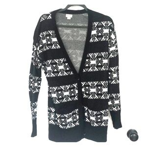 Women's Mossimo Black and White Cardigan large